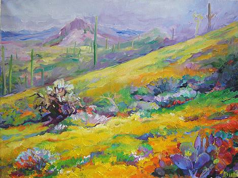Spring in Desert by Nelya Shenklyarska