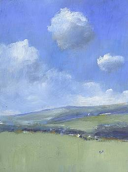 Spring Sky over Ashey Down by Alan Daysh
