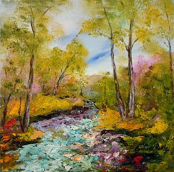 Springs Rushing River by Barbara Pirkle