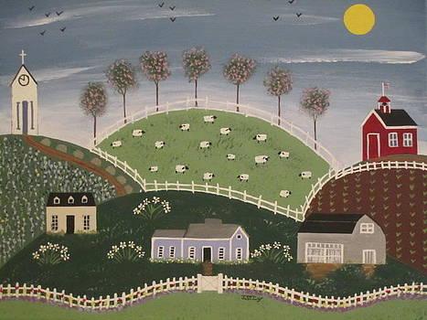 Springtime at the Farm by Janice St Cyr