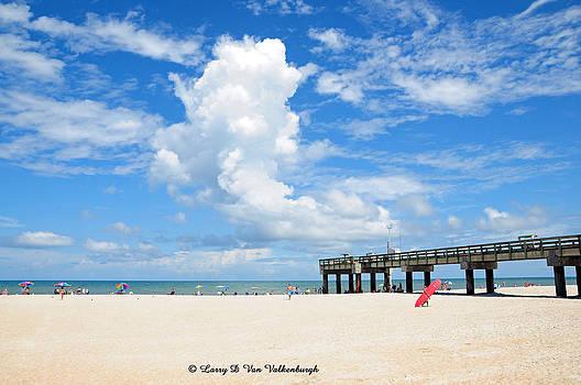 St Augustine Beach Pier by Larry Van Valkenburgh