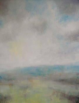 St Boniface Down through the Haze by Alan Daysh