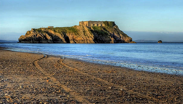 Steve Purnell - St Catherines Rock Tenby from South Beach
