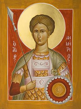 St Demetrios the Myrrhstreamer by Julia Bridget Hayes