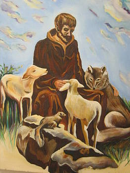 St. Francis and friends by D Marie LaMar