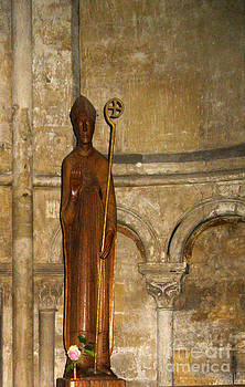 St. Germaine with a Rose by AnneKarin Glass