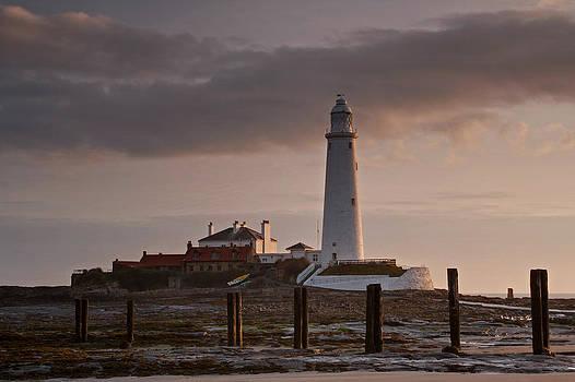David Pringle - St Marys Lighthouse After Sunrise