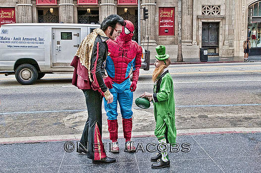 St. Patrick's Day Hollywood Blvd by Neil Jacobs