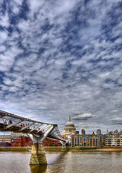 St Pauls Cathedral London and millenium Bridge by Mike Gorton
