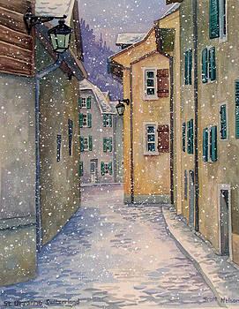St Ursanne in Snow by Scott Nelson