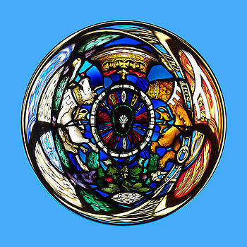 Stained glass in the sphere by Robert Gipson