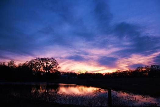 Stained Glass Sunset by Lorri Crossno