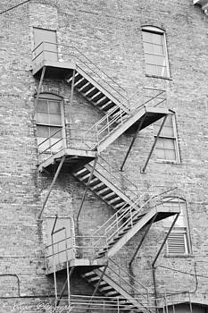 Stairs in Black and White by Carrie Cooper