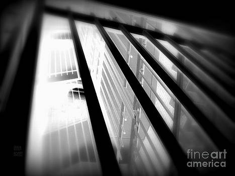 Stairway black and white by Leela Arnet