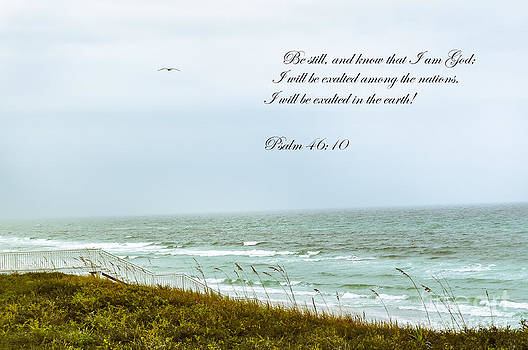 Stairway to Solitude with Bible Verse by Reflections by Brynne Photography