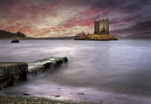 Stalker Castle at sunset by Trevor Sollars