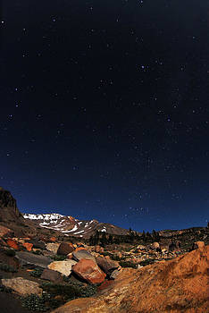 Stars Over Mt. Shasta by Tom Melo