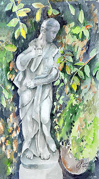 Statue In The Garden by Arline Wagner