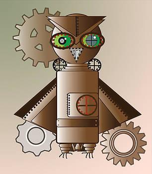 Barbara Giordano - Steam Punk Robot Owl