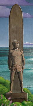Steamer Lane Statue by Tim Foley