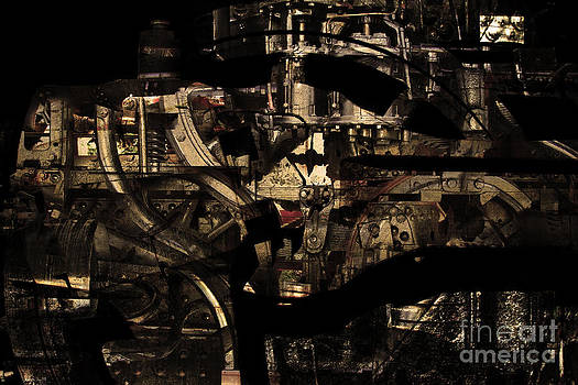 Wingsdomain Art and Photography - Steampunk Patent 1215 Prototype C . Gold Version