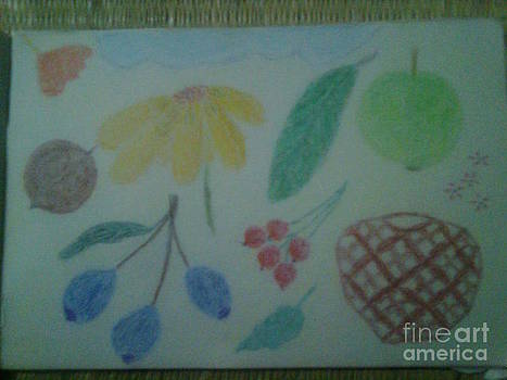 Steel Life Flower And Fruits by Bgi Gadgil