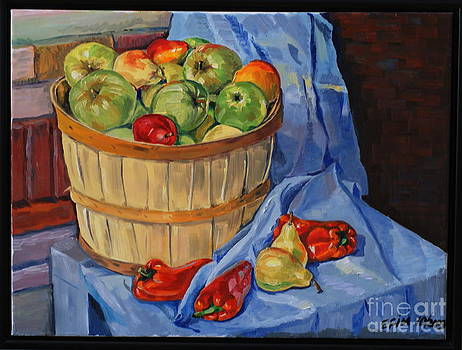 Steel life with apples by Efim Melnik