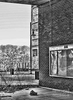 Chuck Kuhn - Steel Works Building bw