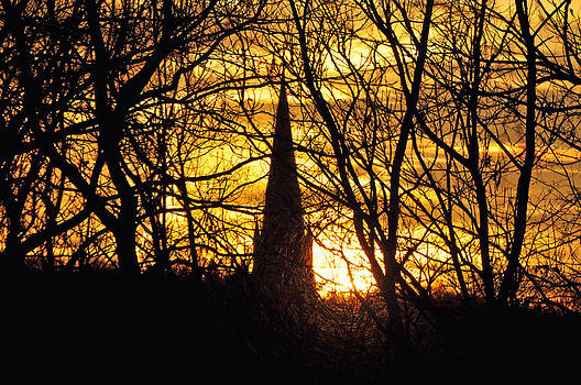 Steeple Silhouette by Peter  McIntosh