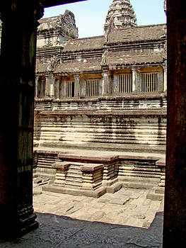 Roy Foos - Steps Into Courtyard Pool Angkor Wat
