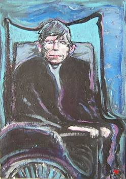 Steven Hawking painting by  Anthony Parillo