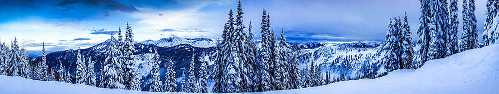 Stevens Pass Panorama by Terry Schmidbauer