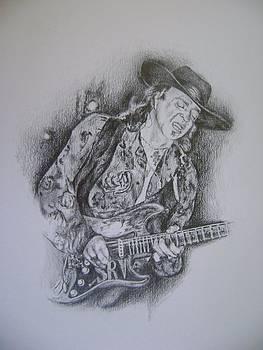 Stevie Ray Vaughn by Tia Gillespie