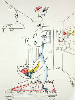 DENNY CASTO - Still life in the room with chair