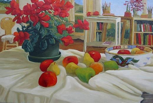 Still life in the studio by Liliane Fournier