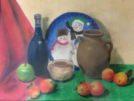 Still Life of the Snowmen by Annie Xiong