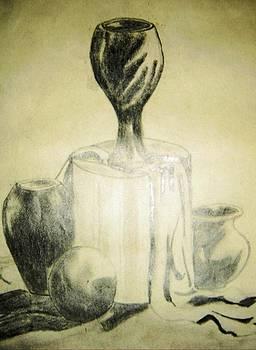 Still life pots by Essie Sarange