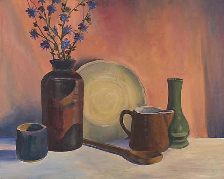 Still-Life with a Yellow Dish by David P Zippi