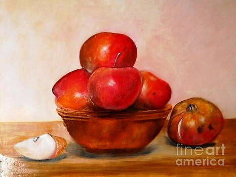 Still life with apples by Tina Art