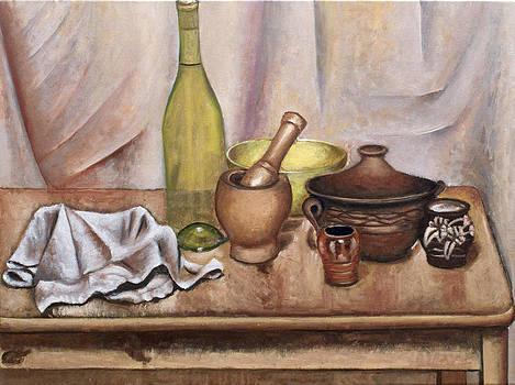 Still life with bottle by Vladimir Kezerashvili