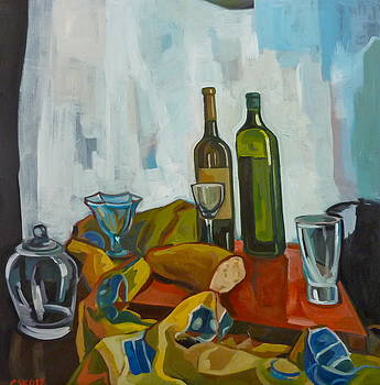 Still life with Bread by Carmen Stanescu Kutzelnig