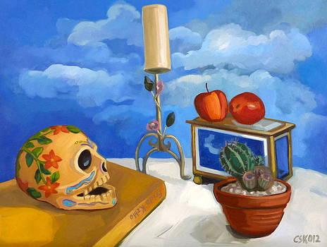 Still life with cactus by Carmen Stanescu Kutzelnig