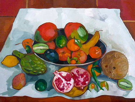 Still life with exotic fruits by Carmen Stanescu Kutzelnig
