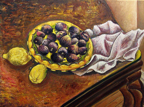 Still Life with Figs by Vladimir Kezerashvili