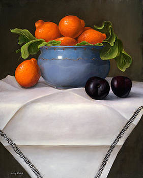 Still life with Mineola Oranges by Mary Phelps