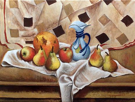 Still life with pears by Vladimir Kezerashvili