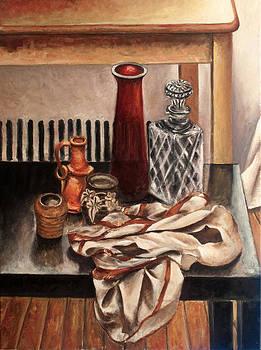Still life with pottery by Vladimir Kezerashvili