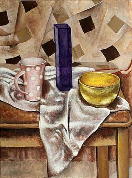 Still life with yellow bowl by Vladimir Kezerashvili