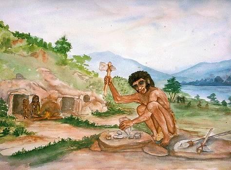 Stone Age life by Shashikanta Parida