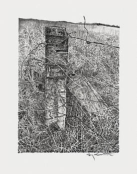 Stone Fence Posts by Gary Gackstatter